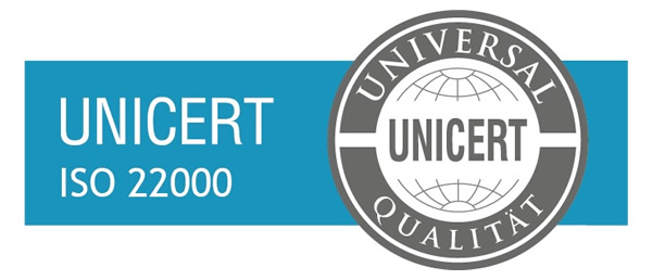 Certification stamp ISO 22000